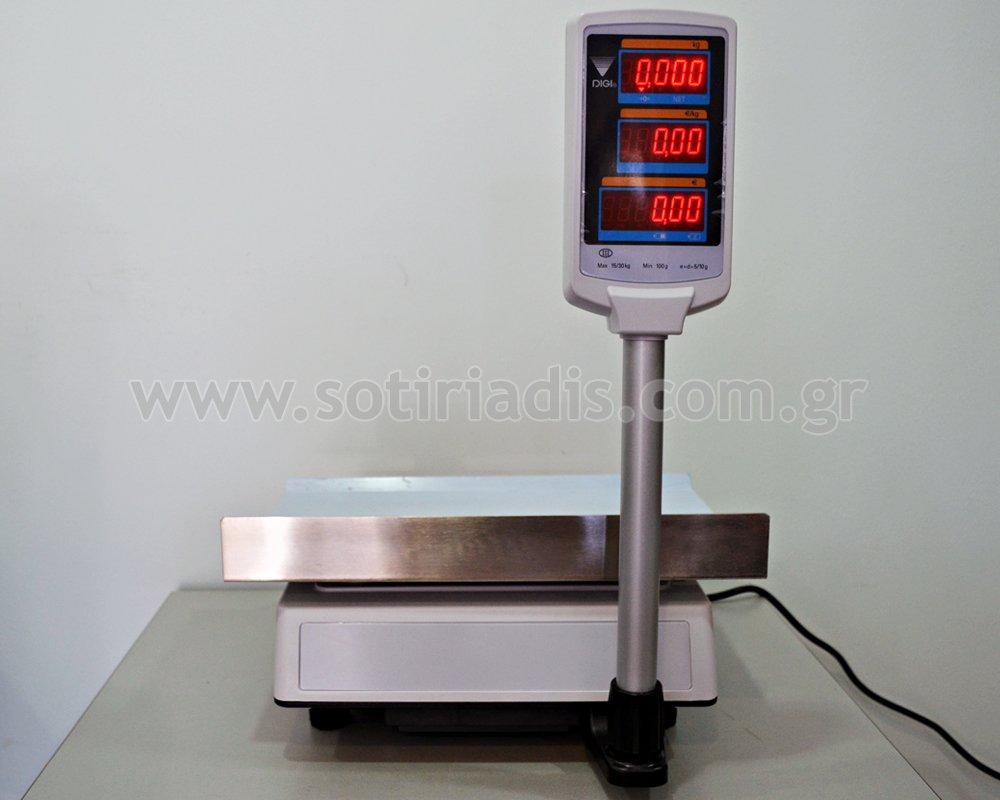 Ζυγός λιανικής χωρίς εκτυπωτή DIGI DS - 700 EPR