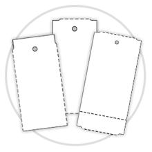 Καρτελάκια για ρούχα σε ρολό