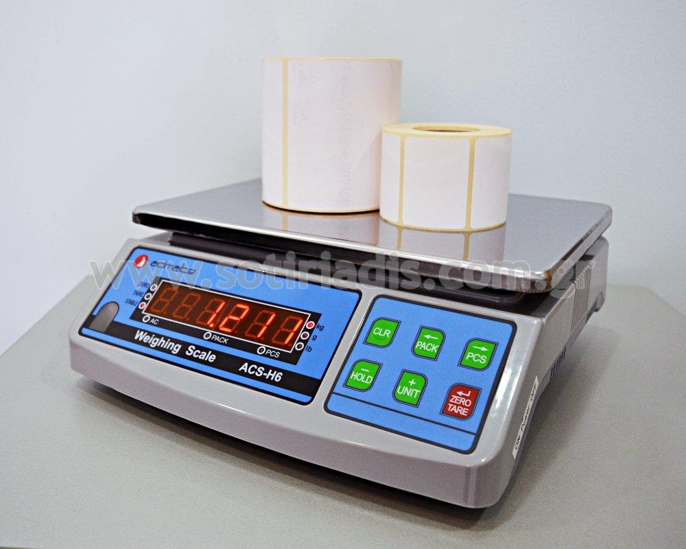 Ηλεκτρονική ζυγαριά βάρους - μέτρησης τεμαχίων ACS H-6