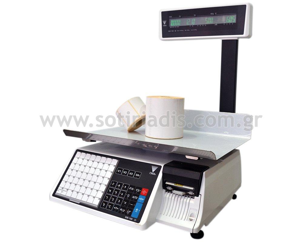 Ζυγαριά λιανικής με ετικέτα DIGI SM-100 PCS